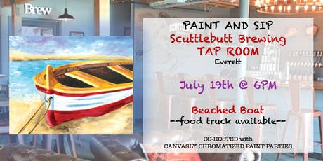 """Paint & Sip: """"Beached Boat"""" @ Scuttlebutt Taproom tickets"""
