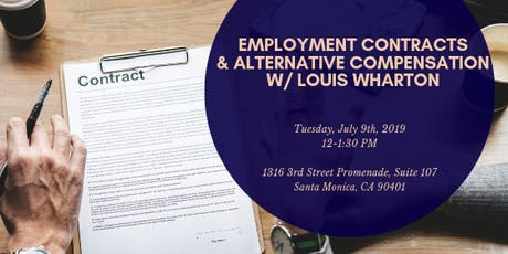 Preccelerator Workshop: Employment Contracts & Alternative Compensation for Startups with Louis Wharton tickets