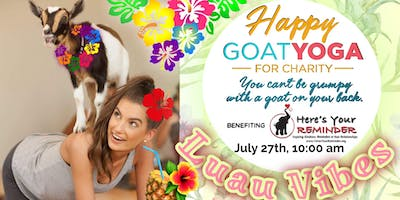 Happy Goat Yoga-For Charity: Luau Vibes Edition! at Sports Garden DFW