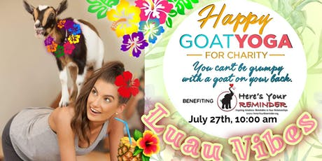 Happy Goat Yoga-For Charity: Luau Vibes Edition! at Sports Garden DFW tickets