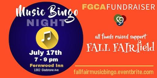 Fall Fairfield Music Bingo Fundraiser!