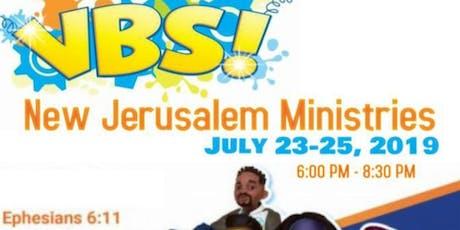 New Jerusalem Ministries Vacation Bible School (VBS) 2019 tickets