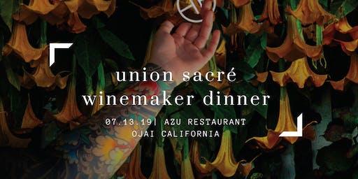 Union Sacré Wine Makers Dinner