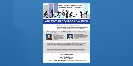 FLEX Los Altos: Seminar: Athletics in College Admission tickets