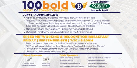Speed Networking & 100Bold Recognition tickets