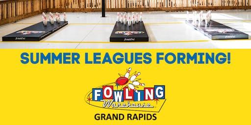 Summer Fowling League Sign Up