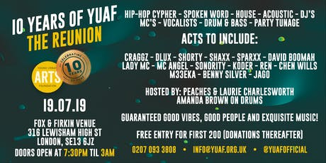 10 Years of YUAF: The Reunion tickets