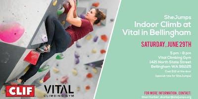 WA SheJumps Indoor Climb at Vital in Bellingham