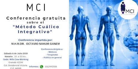 Conferencia Sobre Método Cualico Integrativo  boletos