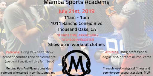 MVPLA Pop Up Session at Mamba Sports Academy
