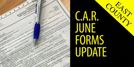 2019 C.A.R. June Forms Update | East County