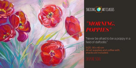 MORNING. POPPIES- social oil painting workshop tickets