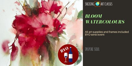BLOOM WATERCOLOURS- sip and paint workshop tickets
