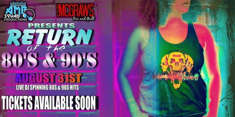 Return Of The 80's & 90's tickets