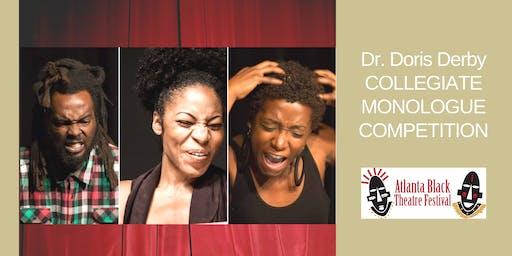 Atlanta Black Theatre Festival- Dr. Derby Collegiate Monologue Competition