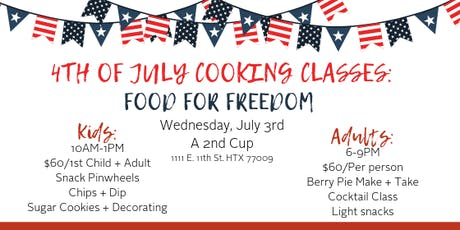 Food For Freedom: Kids Cooking Class tickets