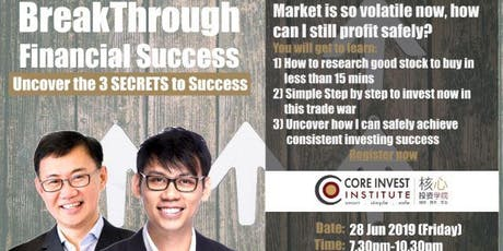 Breakthrough Financial Success - Uncover the 3 SECRETS to Success (Shanghai) tickets