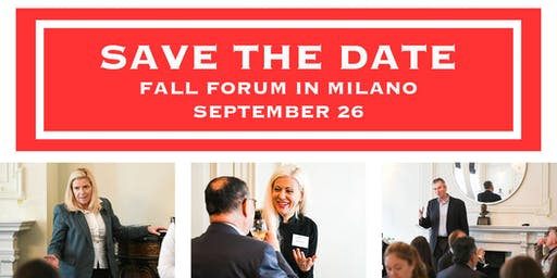 Swiss Growth Forum Fall Edition 2019 in Milano