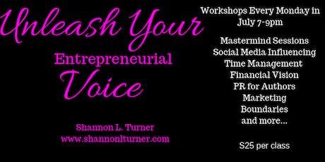 Unleash Your Entrepreneurial Voice Workshops tickets