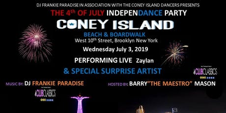 Pre-4 Th of July Coney Island Boardwalk Party Frankie Paradise tickets