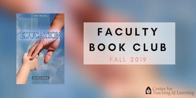 FACULTY BOOK CLUB: November (Fall 2019) - Monday 12:30 p.m