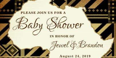 Baby Brandon is Coming to America Baby Shower honoring Jewel & Brandon Sr.