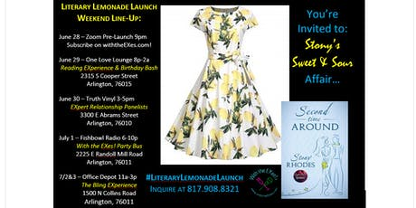 Literary Lemonade Launch Party Bus & With the EXes! Talk Radio Show tickets