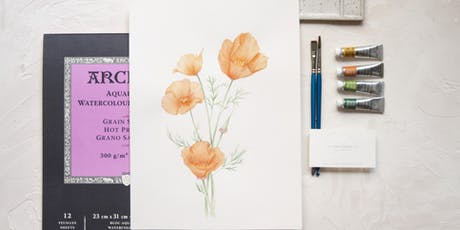 Botanical Watercolor Workshop with Seniman Calligraphy-August Weekend Class 2019 tickets