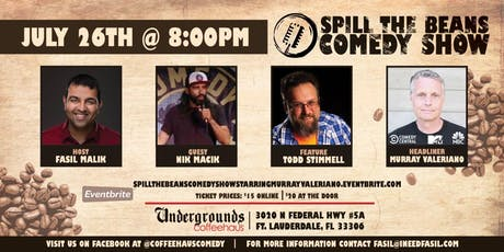 Spill the Beans Stand Up Comedy Show- Murray Valeriano (Comedy Central, NBC & MTV) tickets