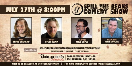Spill the Beans Stand Up Comedy Show- Rich Shultis  tickets
