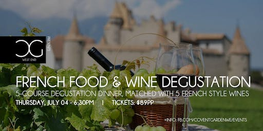 5-Course French Food & Wine Degustation