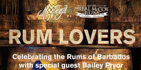 RUM LOVERS with special guest Bailey Pryor of Real McCoy Rum  tickets