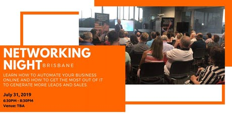 6th Brisbane Networking Night: Come Along And Join Like-Minded Business Owners tickets