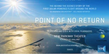 Advance Tickets: Point of No Return Screening - Solar Powered Circumnavigat tickets