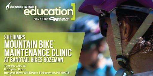 MT SheJumps Mountain Bike Maintenance Clinic at Bangtail Bikes Bozeman