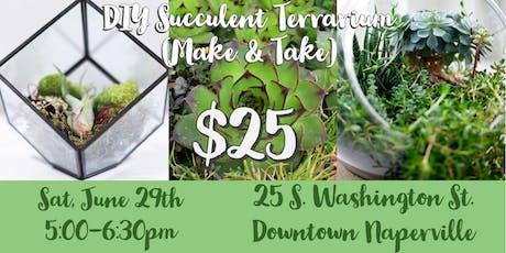 DIY Succulent Garden Terrerium (Make & Take) tickets
