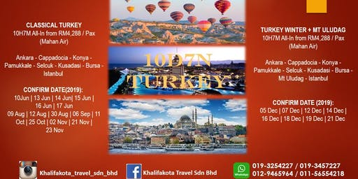 10DAYS 7 NIGHTS TOUR TO TURKEY