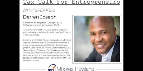 Tax Talk for Entrepreneurs tickets