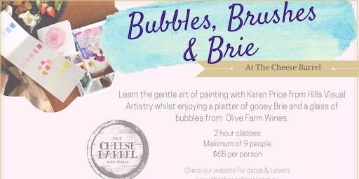 Bubbles Brushes & Brie - 3rd August