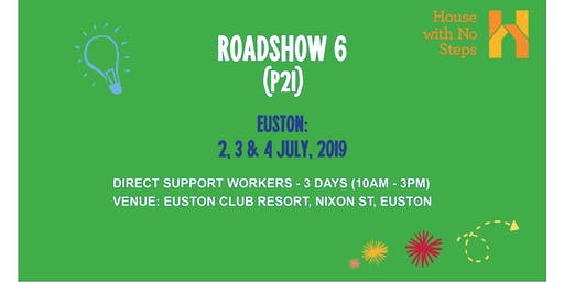 Euston: Roadshow 6 Direct Support Workers (3 days - 10am - 3pm)