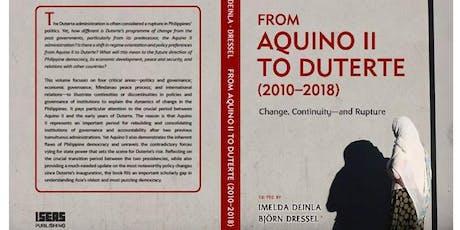 Book launch: From Aquino II to Duterte (2010-2018) tickets