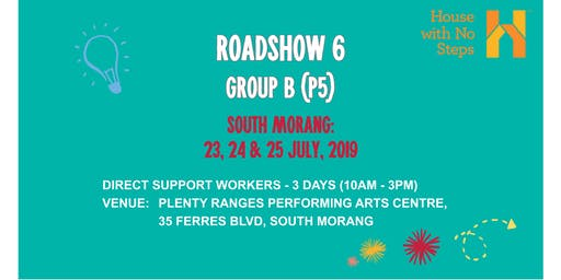 Metro: Roadshow 6: Direct Support Workers (3 days 10am - 3pm) Group B