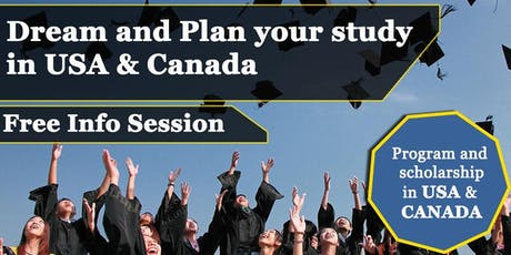 Info Session Study in America and Canada (Free Info Sesi) tickets