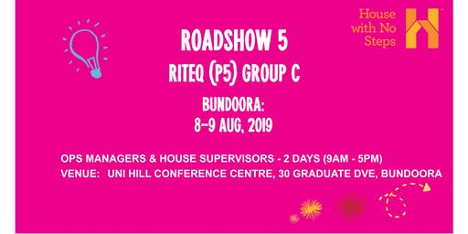 Metro: Roadshow 5 (Riteq) 2 days 9.30am - 4.30pm Group C