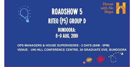 Metro: Roadshow 5 (Riteq) 2 days 9.30am - 4.30pm Group D tickets