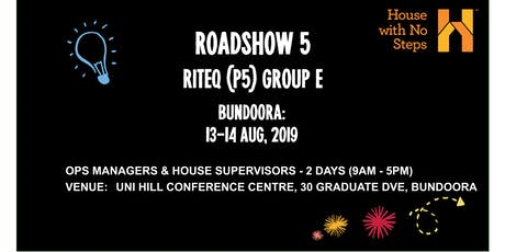 Metro: Roadshow 5 (Riteq) 2 days 9.30am - 4.30pm Group E tickets