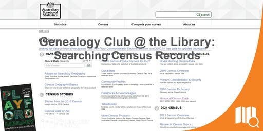 Genealogy Club @ the Library: Census Records