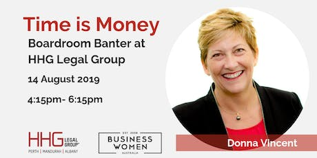 Perth, Business Women Australia: Time is Money Boardroom Banter tickets