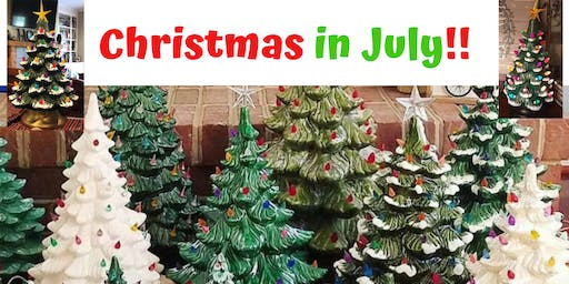 Christmas in July - Paint a Ceramic Christmas Tree