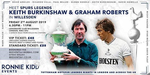 An Evening with UEFA CUP Winners and FA CUP Winners Graham Roberts and Keith Burkinshaw